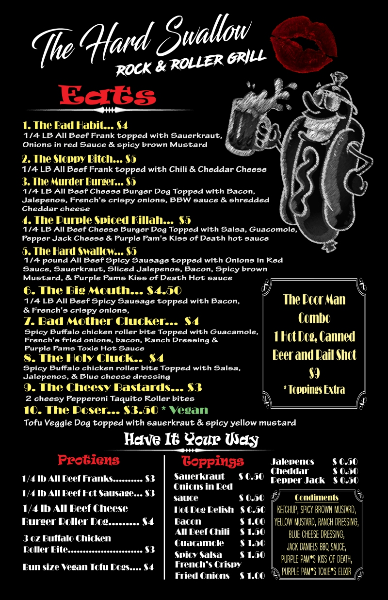 Rock and roller grill menu11x17